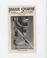 1943 1943-48 Parade Sportive Paul Stuart #GEMA Georges Mantha Montreal Canadiens