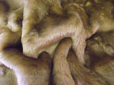 SHORT PLUSH Care Bear Faux Fur Fabric ANTELOPE BROWN