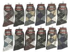 12 Pairs Men's Light Weight Thin Breathable Dress Socks Cotton Crew Formal Socks