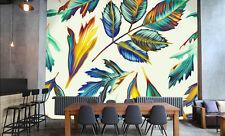 Papel Pintado Mural De Vellón Hojas Patrón Colores 26 Paisaje Fondo De Pantalla