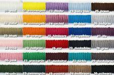 (0,15 EUR/m) Polyesterkordel, PE-Kordel, 50 Meter, 6 mm Ø, in 30 Farben