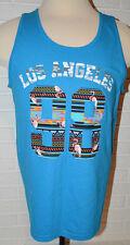 Men's Gildan Blue Los Angeles Sleeveless Muscle Shirt Tank Top Sizes L, XL