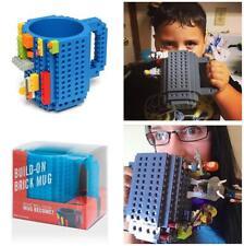 DIY Creative Lego Brick Building Mug Assemble Puzzle Blocks Gift Cup