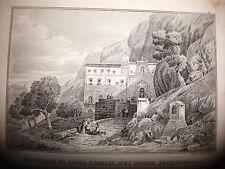 PALERMO CAPPELLA SANTA ROSALIA Le coste e le isole del MEDITERRANEO 1841 SICILIA