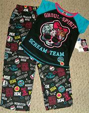 "NWT Monster High ""Scream Team"" Pajama Set Size L 10/12  $32 RV"