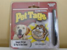 Fun Pet Tags Cat Dog Homemade I.D. Tags