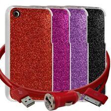 Housse Etui Coque Paillette pour Apple iPhone 3G/3GS + chargeur auto + film