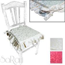 Coprisedia 2-6 Cuscini Sedia con Lacci Elegante Laminato Damasco Floreale SARANI