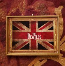The Beatles Union Jack Background Christmas Custom Handmade Ornament/Magnet/DHM
