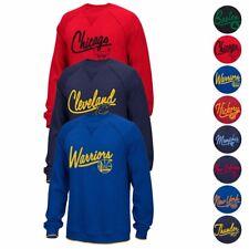 NBA Adidas Originals Classics Team Logo Fleece Crew Script Sweatshirt Men's