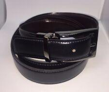 Navy Wine Real Leather Handmade Reversible 30mm Belt Buckle Golfing Belts xl G10