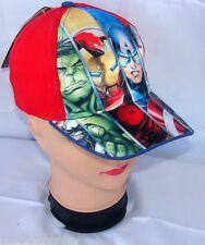 Avengers EROI cappello Premium con visiera Bambino Baseball tg 52 i 54 rosso