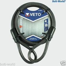 1,8 m / 3m veto Acero Doble Bucle Cable de extensión Cadena Candado Bicicleta Bicicleta ciclo
