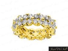 4.80Ct Round Diamond Shared Prong Flower Anniversary Eternity Band Ring 18K Gold