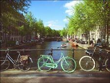 Amsterdam city bridge bikes a4 Edible Cake Topper Wafer Icing Decoration