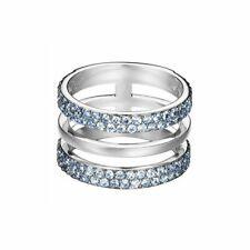 Esprit Damen Ring Edelstahl Silber Zirkonia Blau ESRG02784D