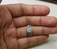 2.08 Ct Round Cut Twist Engagement Wedding Ring Set Diamond 14K White Gold Over