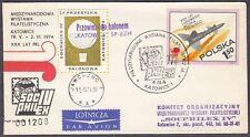 POLAND 1974.IX.11 Ballon KATOWICE Mail Cat.48 Start KATOWICE - JAWORZNO landing