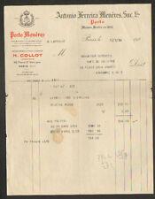 """PARIS (IX° Arrt.) ALCOOL PORTO MENERES """"Antonio FERREIRA MENERES"""" en 1934"""