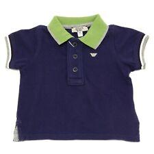 7379T polo bimbo ARMANI BABY blu/verde/grigio maglia t-shirt polo kid