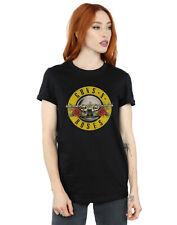 Guns N Roses Donna Bullet Logo Boyfriend T-Shirt Fit