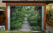 3D Path, plants Garage Door Murals Wall Print Decal Wall Deco AJ WALLPAPER AU