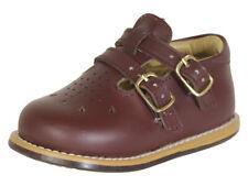 Josmo Toddler's Walker Wide Burgundy Leather Walking Shoes