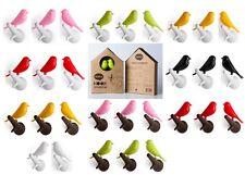 Sparrow Hook von Qualy 2 er Set, Wandhaken Vogel auf Ast Garderobe Kleiderhaken