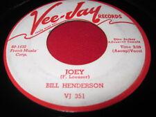 BILL HENDERSON - JOEY / SWEET PUMPKIN - VEEJAY PROMO 45