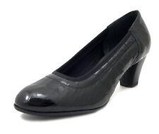 Scarpe Donna Decolte Comfort Pianta Larga in Pelle Lucida Tacco Medio Basso 5 cm