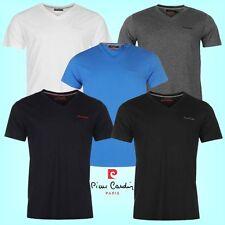 """Tee Shirt Homme """"PIERRE CARDIN"""" Col V broderie poitrine Polo NEUF"""