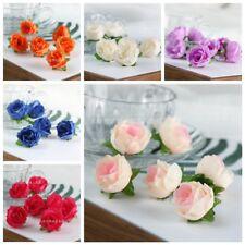 Craft Wedding Party Decor 50Pcs Artificial Silk Rose Peony Flower Heads Bulk Hot