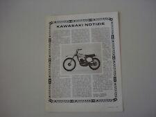 advertising Pubblicità 1974 MOTO KAWASAKI KX 125
