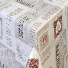Tovaglia di tela cerata merce al metro angolare ROTONDO OVALE caffè Brasile