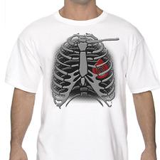 Jdm Skeleton Turbo Heart Drifting T Shirt White or Gray Civic GT-R Type R Sti
