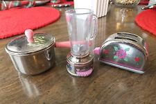 OSFT 1996 Miniature Appliances, Toaster, Blender & Cook Pot