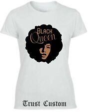 Black Queen T-shirt Ladies Women  Black Fitted T-shirt Queen TANK TOP HEAD NICE