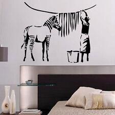 Banksy Zebra Wash Day Decal Vinyl Wall Sticker Art Graffitti Street