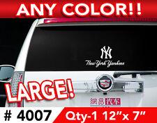 "NEW YORK YANKEES LOGO/WORDS DECAL STICKER 12""x7"""
