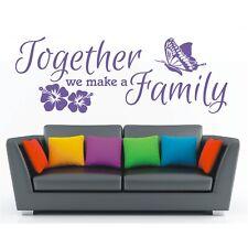 Wandtattoo Spruch Together we make a family Familie Wandsticker Aufkleber