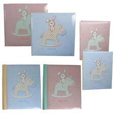 Photo Album - New Baby - Rabbit on Rocking Horse Design - Choose Size