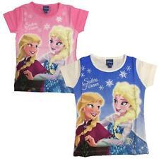 Maglietta Maniche Corte Disney Frozen,  T-Shirt Anna e Elsa *03655