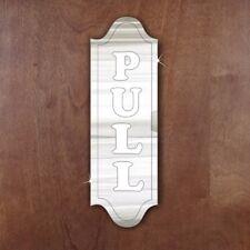 Door- Plaque- Signage-School- Hotel- Office 'Pull' Acrylic Mirror Sign
