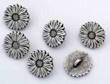 6 bottoni in metallo serie natura - MARGHERITA - daisy buttons