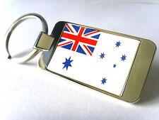 NAVAL ENSIGN OF AUSTRALIA KEYFOB / AUSTRALIAN WHITE ENSIGN KEYRING KEY FOB GIFT