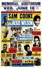 RR26 Vintage Sam Cooke Jackie Wilson Rock & Roll Concert Music Poster A3/A4