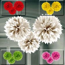 Set di 3 Palla ad alverare decorazioni da parete a nido d' APE pompon