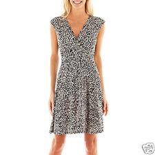 Studio 1 Extended-Shoulder Animal Print Dress Size XL New Msrp