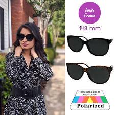 XL Women's Polarized Wide Frame Sunglasses for Big Face Large Cat Eye Oversized