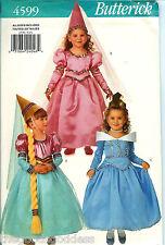 Butterick 4599 Princess Queen Conical Hat Veil Costume Girls Pattern UNCUT FF